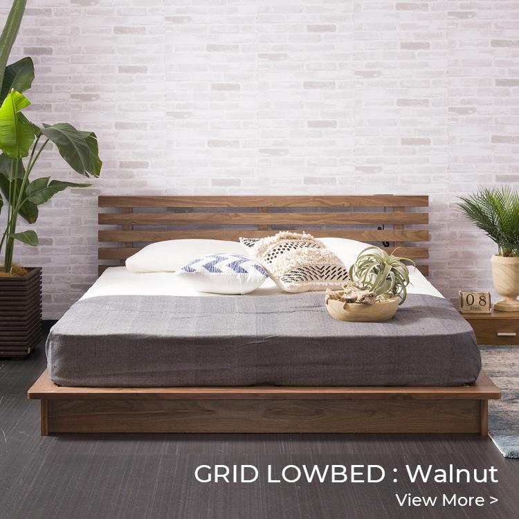 GRID LOWBED:Walnut
