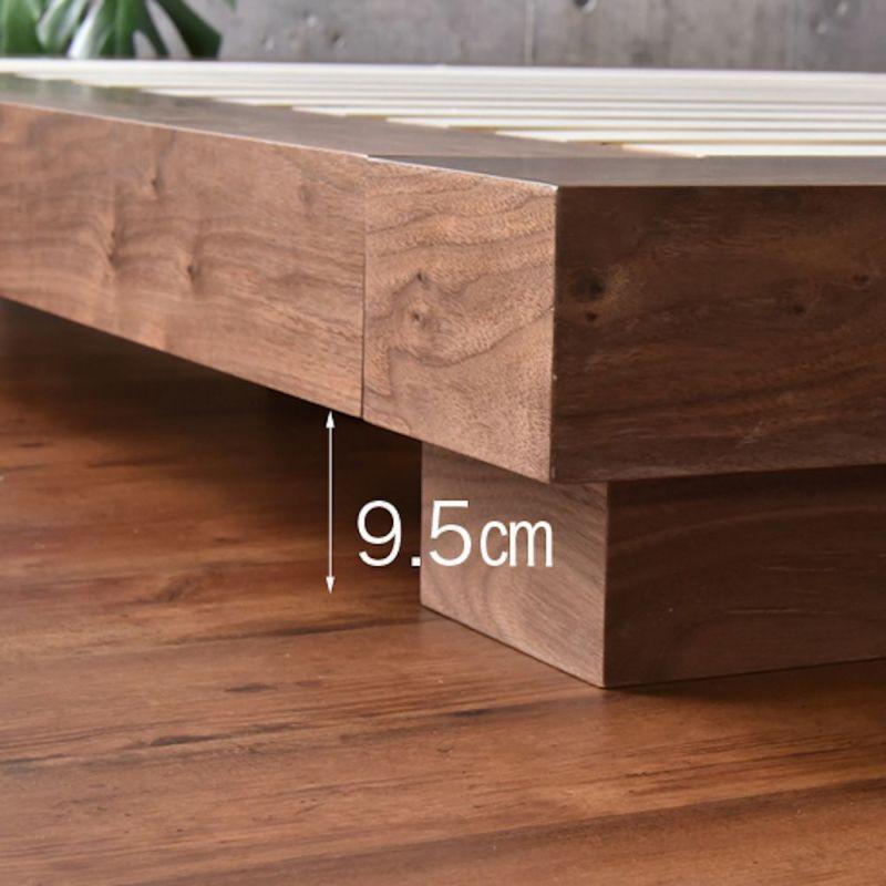 VILLAローベッド ダブルサイズ 床板クリアランス